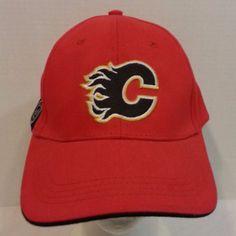 Calgary Flames NHL Hockey Strapback Baseball Hat Cap  CalgaryFlames   BaseballCap Baseball Hats 9d19acdf27b