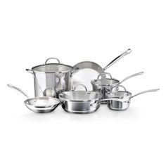 Farberware Millennium Tulip Shaped Stainless Steel 10-piece Cookware Set - Overstock™ Shopping - Great Deals on Farberware Cookware Sets