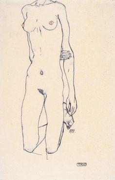 torso eines knienden Mädchens - 1913