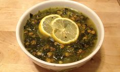 Lemon and Mint Lentil Soup