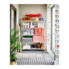 IKEA MULIG shelving unit Can also be used in bathrooms and other damp areas indoors. Smart Storage, Storage Shelves, Storage Spaces, Shelving, Ikea Mulig, White Shelves, Neat And Tidy, Home Goods, The Unit