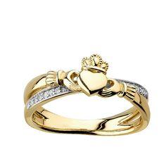 53931c00c9796b Diamond Claddagh Crossover Ring | Fallers.com - Fallers Irish Jewelry  Diamond Claddagh Ring,