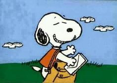 Today is National Postal Worker Day. Peanuts Snoopy, Charlie Brown And Snoopy, Schulz Peanuts, Snoopy Cartoon, Famous Dogs, Snoopy Quotes, Snoopy And Woodstock, American Comics, Cartoon Drawings