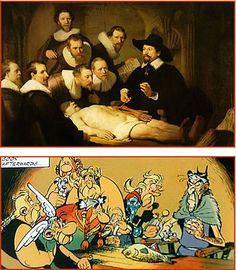 Albert Uderzo, René Goscinny. Astérix - Le devin. Anatomy Lesson of Dr. Tulp. See: pinterest.com/pin/287386019941531868.