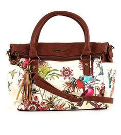 #Desigual Tasche - Modell New Tropic. Muster: floral, exotisch, beige.