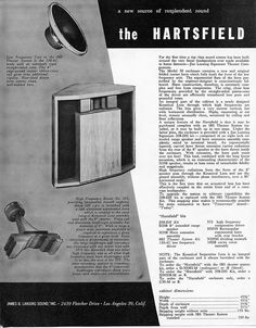 While it didn't have the longevity of the Klipsch bass horn designs it is still a classic. Home Speakers, Loudspeaker, Audiophile, Vintage Ads, Anna, The Unit, Quad, Monitor, Cabinets