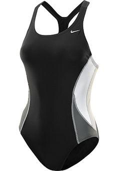 b6223bfd781be NIKE Women s Power Back Team Color-Block One-Piece Swimsuit Nike Swimwear