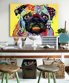 Look at this Pug Wrapped Canvas on #zulily today!