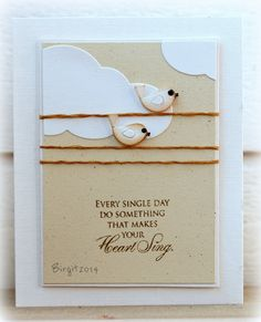 make your heart sing card by Birgit