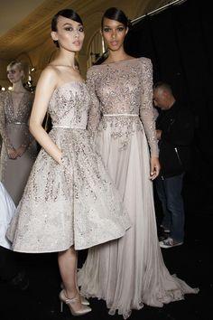 Backstage Elie Saab Haute Couture Autumn 2013