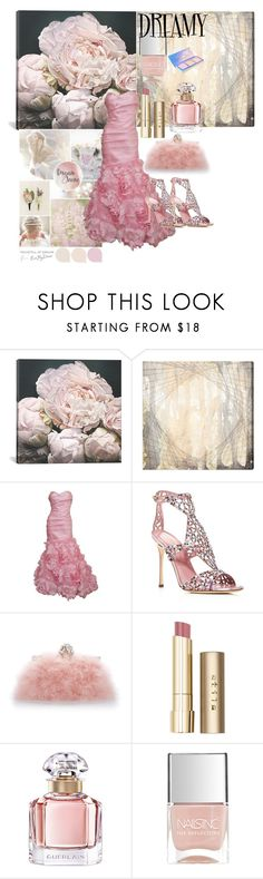"""""""Dreamy Dresses"""" by rosalindmarshall ❤ liked on Polyvore featuring iCanvas, Oliver Gal Artist Co., Monique Lhuillier, Sergio Rossi, Dolce&Gabbana, Stila, Guerlain and Nails Inc."""