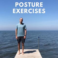 Better Posture Exercises, Posture Correction Exercises, Posture Stretches, Bad Posture, Back Exercises, Forward Head Posture Correction, Posture Collar, Go For It, Workout Videos