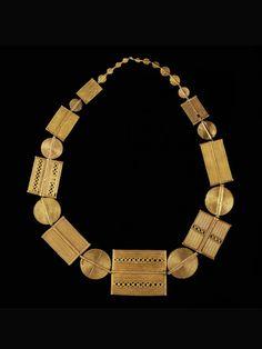 AKAN COLLIER Elfenbeinküste. L 73 cm. Goldlegierungen in verschiedenen Feingehalten.