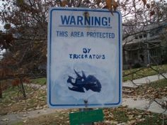 This area protected by Triceratops.