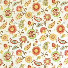 The G4188 Punch upholstery fabric by KOVI Fabrics features Contemporary, Floral, Juvenile, Suzani pattern and Green, Pink, Red as its colors. It is a Cotton, Made in USA, Print type of upholstery fabric and it is made of 100% Cotton material. It is rated Exceeds 15,000 double rubs (heavy duty) which makes this upholstery fabric ideal for residential, commercial and hospitality upholstery projects.For help please call 800-860-3105.