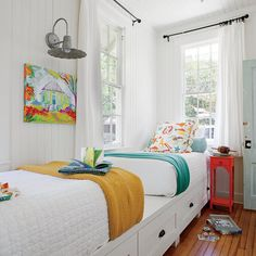 Darling Bunk Room - Little Yellow Beach Cottage Tour - Coastal Living