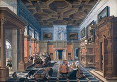 Esaias van de Velde - Gezelschap in interieur