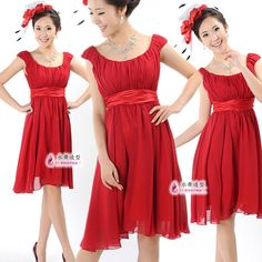 Water sweet bride - red chiffon bridesmaid dress marry bridesmaids short skirt suspender skirt free shipping on AliExpress.com. 5% off $47.43