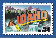 Usps Greetings From Idaho Postcard A Photo On Flickriver Usa
