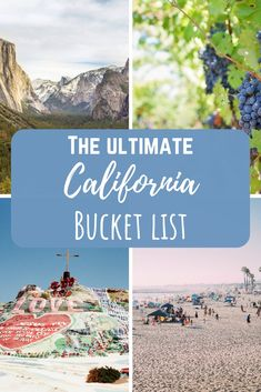 California travel: the California bucket list The best things to do in California, adventure in California, and loads of inspiration for your California vacation - your bucket list is about to blow up! California Destinations, California Vacation, Visit California, Travel Destinations, Southern California, Vacation Spots In California, Cool Places In California, Ontario California, California Mountains