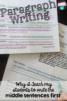 "A blog post from a 5th grade teacher about how she has found success with paragraph writing in teaching the students to write the ""meat"" first."