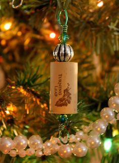 Christmas Decoration Ornaments Wine Cork by ShopwornDesigns