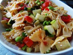 Bow Tie Pasta Salad :http://bowl-me-over.com/bow-tie-pasta-salad/