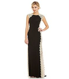 692a0a0154 Xscape Lace Panel Jersey Gown  Dillards Formal Dresses For Women