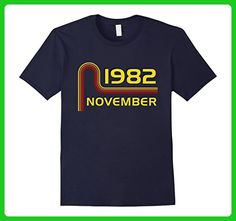 Mens Pop 1982 November Vintage Retro Birthday Apparel Large Navy - Retro shirts (*Amazon Partner-Link)