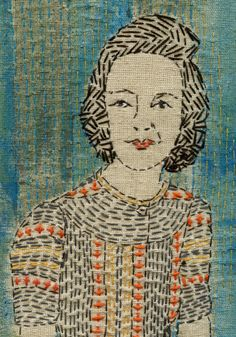 Woman With A Fish: Running Stitch by Sue Stone ... Gorgeous work!