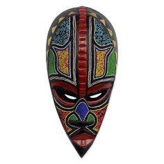 Authentic African Mask - Proud Hausa Warrior   NOVICA
