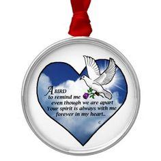 Bird Heart Poem Christmas Ornament