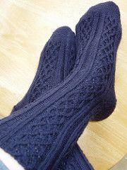 Celtic Denim Sock pattern by Judy Sumner