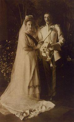 Wedding of Princess Tatiana K. and Prince Constantine Bagration of Mukhrani. 1911.