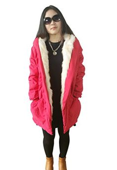 Women Thicken Warm Winter Coat Hood Parka Overcoat Long Jacket Outwear - http://www.darrenblogs.com/2017/01/women-thicken-warm-winter-coat-hood-parka-overcoat-long-jacket-outwear/