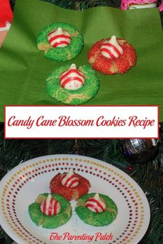During the weeks before Christmas, I love spending hours in my kitchen baking cookies. A few years ago I stumbled across a beautiful recipe for candy cane blossoms from Baked Perfection. I wanted to make the gorgeous red and green cookies but had had trou Blossom Cookies, Kiss Cookies, No Bake Cookies, Baking Cookies, Rib Recipes, Roast Recipes, Other Recipes, Carrot Recipes, Cabbage Recipes