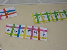 RALLYE-LIENS DES OEUVRES DE RENTREE Pre Writing, Writing Skills, Name Games, Petite Section, Name Art, Reggio Emilia, Art Lessons, Montessori, Learning