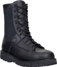 2080 Rocky Men's Portland Uniform Boots - Black