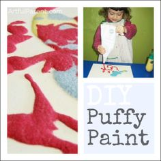 Make Your Own Puffy Paint (an all-time favorite kids art activity!)