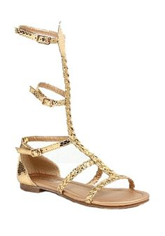 It's pyramid time! Pick up these Child Egyptian Gold Sandals to go with your Egyptian costume!
