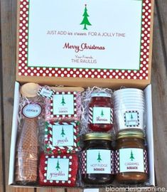 Creative DIY Gift Basket Ideas for This Holiday 2017 - Homemade Christmas Sundaes Kit Gift Basket. You are in the right place for diy crafts Here we pr - Christmas Gift Baskets, Handmade Christmas Gifts, Homemade Christmas, Christmas Fun, Holiday Gifts, Holiday Fun, Holiday Ideas, Adult Christmas Gifts, Christmas Presents