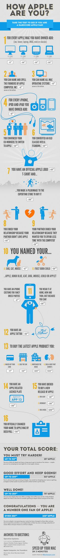 How Apple Are You #Infographic quiz