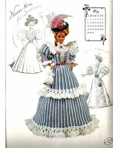The Gibson Girl Collection of the Gay Nineties May Fashion Doll Crochet Pattern Annies Attic. $6.00, via Etsy.