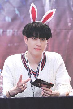 GOT7 Yugyeom    aww those bunny ears loom so cute :3
