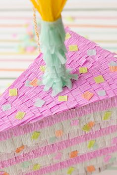 Cake Slice Pinata DIY Tutorial