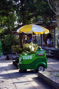 agua de coco (coconut water vendor), Buzios, Brazil