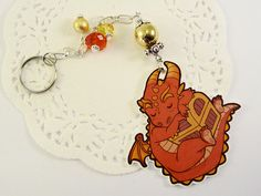 Little Smaug from The Hobbit, keyring charm fanart