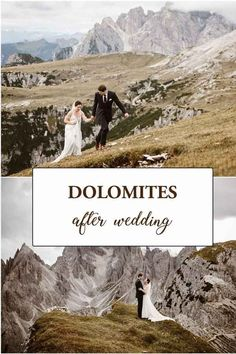 Hiking after wedding in the Dolomites in Italy. Wedding Shoot, Boho Wedding, Wedding Hair, Elopement Inspiration, Elopement Ideas, Royal Weddings, Castle Weddings, Small Weddings, Mountain Elopement