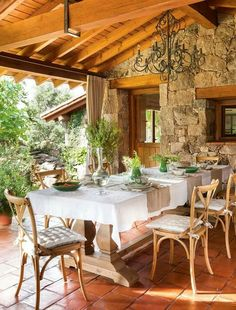 Veranda rustica