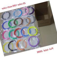 36.82$  Watch now - https://alitems.com/g/1e8d114494b01f4c715516525dc3e8/?i=5&ulp=https%3A%2F%2Fwww.aliexpress.com%2Fitem%2F20Color-lot-10M-color-3D-Printing-Pen-Material-1-75mm-3D-Pen-PLA-Filaments-20-mix%2F32703666268.html - 200m PLA meterial, 20Color/lot 10M/color 3D Printing Pen Material 1.75mm 3D Pen PLA Filaments 20 mix Colour 10 meters Each Color 36.82$